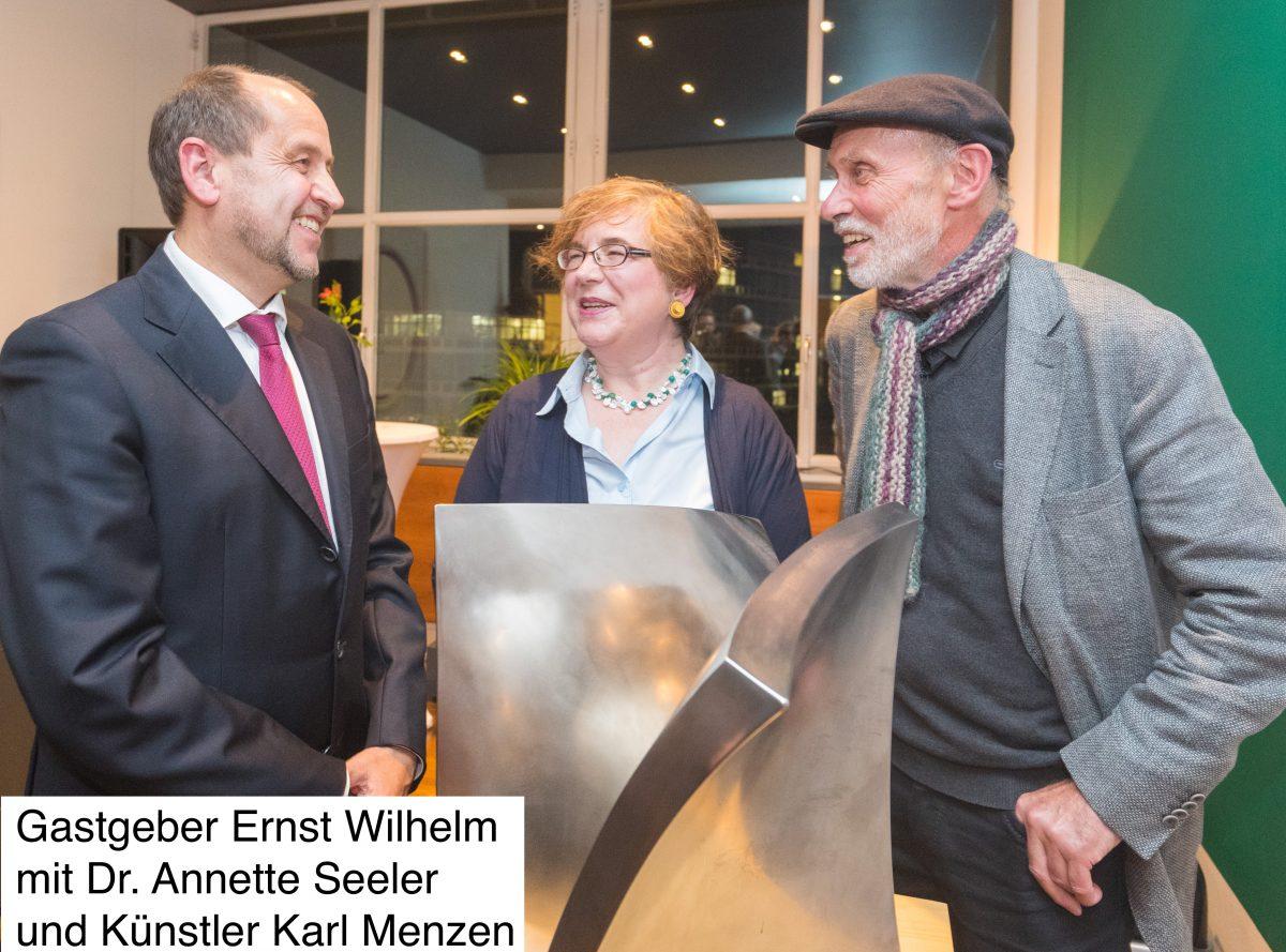Kunst und Kulinarik in der Kanzlei: Ausstellung Metall² bei HFK